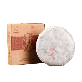 【买五送一】贡马茶品 中期茶 景迈  2012年白棉纸包装版纳原产地仓储 80克生饼
