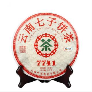 中茶 2019年 中茶7741普洱茶 生茶 云南七子饼 357克/饼