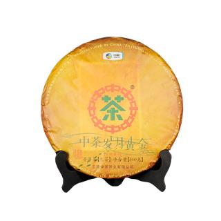 中茶 2019年岁月黄金 (古树黄片)普洱茶 生茶 500克/饼