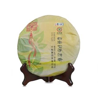 中茶 2014年普洱茶 生茶 七子饼茶 红丝带 357克/饼