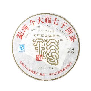 今大福 2013年 大印藏茶王青饼 普洱茶 生茶 400克/饼