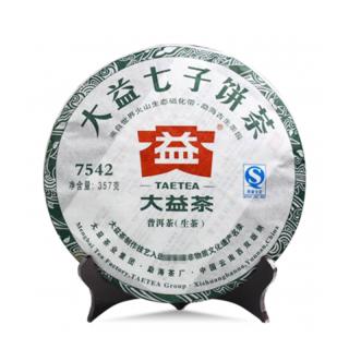 【昆明仓】大益2011年经典标杆 7542 普洱茶生茶 357克/饼(102批)