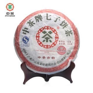 中茶2007年中茶古韵普洱茶生茶380克/饼