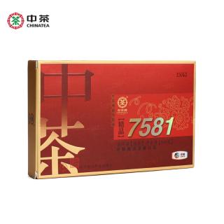 中茶2015年精品7581 普洱茶砖熟茶紧压茶500克/砖