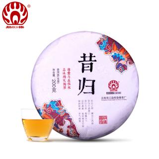 勐傣茶厂2018年昔归古树纯料普洱茶生茶200克/饼