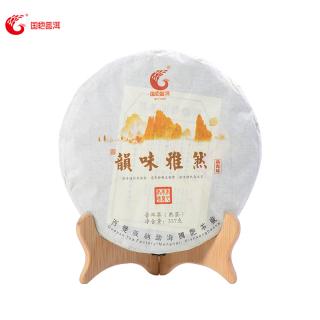 国艳2016年韵味雅然普洱茶熟茶357克/饼