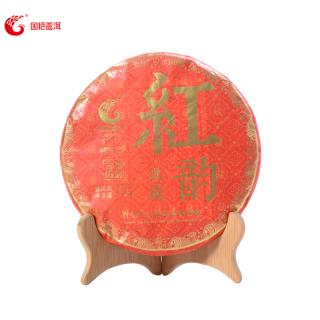 国艳茶厂2017年红韵典藏布朗山古树熟茶357克/饼