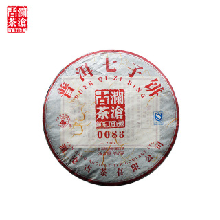 澜沧古茶2017年0083普洱茶熟茶357克/饼