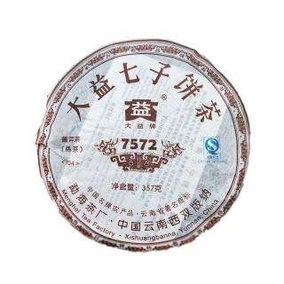 大益 2007年 704批7572 普洱茶熟茶 357克/饼