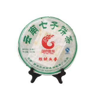 国艳 2011年《版纳头春》普洱茶生茶 357克/饼