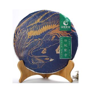 国艳  2018年《传统配方》普洱茶 生茶  357克/饼