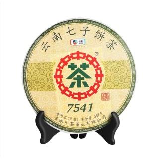 中茶 2019年7541普洱茶 生茶357克/饼(中茶经典热销商品)