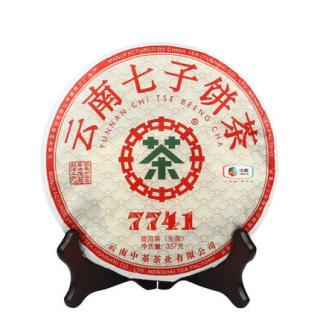 中茶 经典7741普洱茶 生茶 357克/饼(昆明茶厂)
