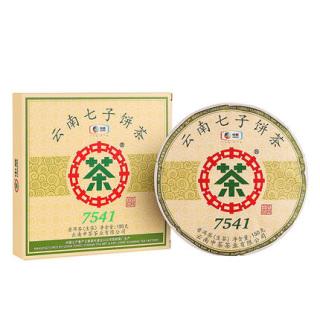 中粮中茶经典7541普洱茶 生茶 150克/饼(中茶经典热销产品)