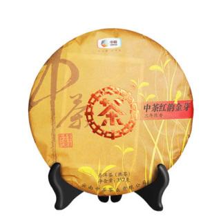中粮中茶 2019年红韵金芽 普洱茶 熟茶357克/饼